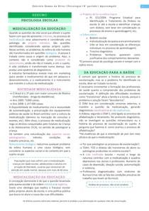 Resumo Medicalização e Judicialização da educação - Psicologia Escolar