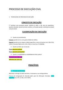 PROCESSO DE EXECUÇÃO CIVIL- aula 1