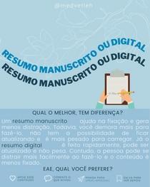 resumo manuscrito ou digital? qual o melhor?