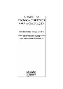 Manual de técnica cirúrgica para a graduação