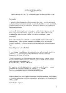 PRÁTICAS TRABALHISTAS Aula 1 A  10