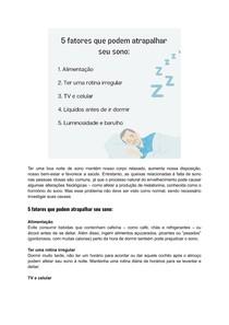 5 fatores que podem atrapalhar seu sono