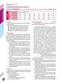 15 - Exercícios / A organização burocrática moderna