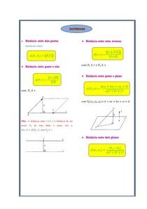 [Geometria Analítica com Vetores] Distâncias (Resumo)
