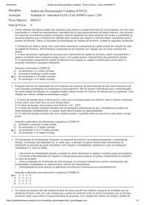 Avaliação II - Analise das demonstrações contábeis GABARITO