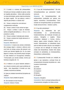 Estudo dirigido de Bioquímica - Carboidratos