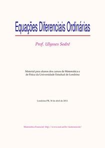 Apostila - Equações Diferenciais Ordinárias
