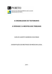 TEORIA DO TESTEMUNHO TESE DE PSICOLOGIA