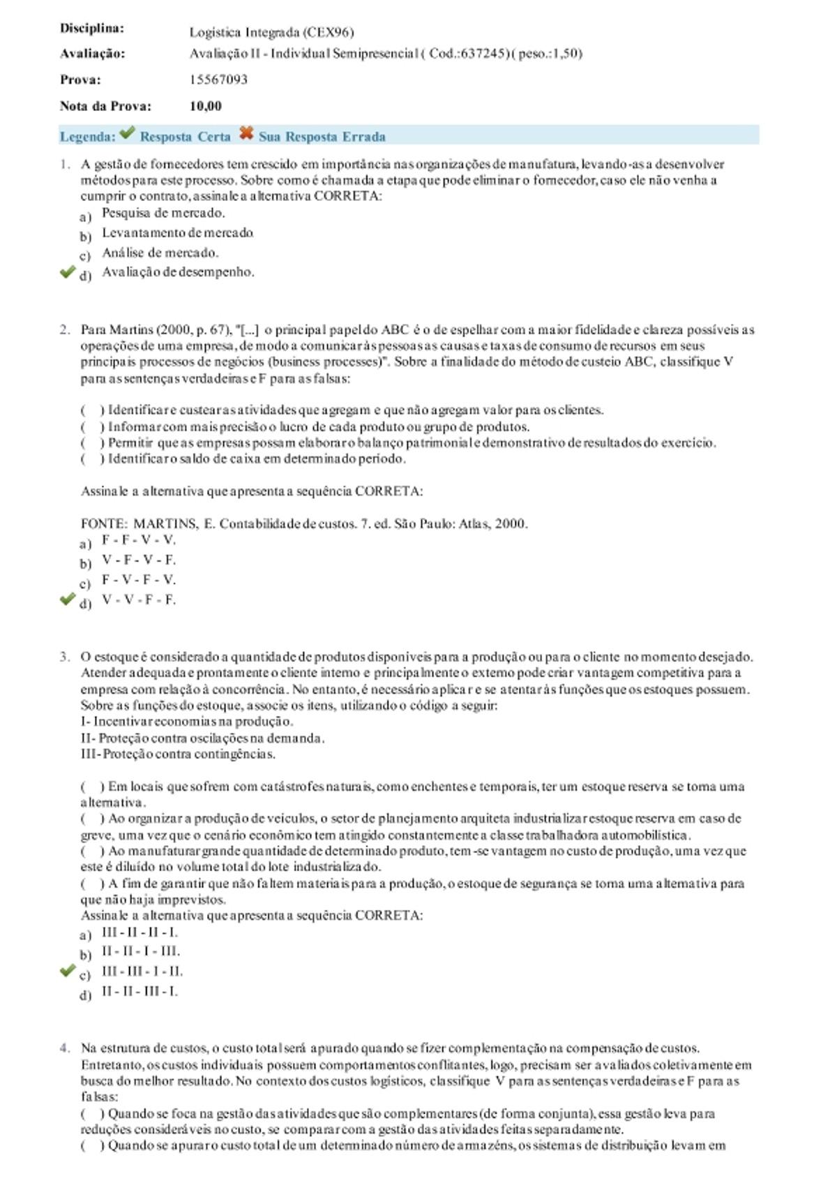 Pre-visualização do material ava Logística - página 1