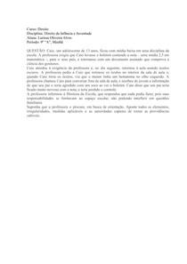 P1 - Infância e Juventude - Larissa Alves