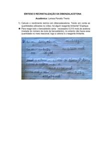Preparação e recristalização dibenzalacetona 6