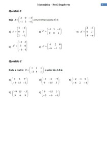 Matrizes e Sistemas Lineares - Parte 1