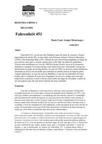 Resenha fahrenheit 451- por Paulo Montenegro