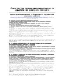 CÓDIGO DE ÉTICA PROFISSIONAL DO ENGENHEIRO