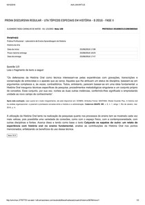 Avaliação Discursiva Prática Profissional   Laboratório de Ensino Aprendizagem de História (1)