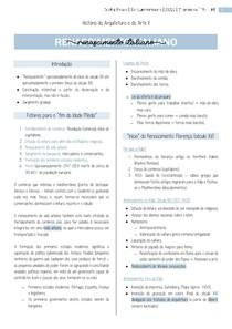 01 - Resumo THAU II Renascimento Italiano