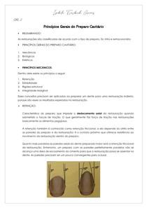 Princípios Gerais do Preparo Cavitário