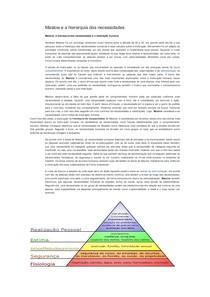 Maslow E A Hierarquia Das Necessidades Psicologia