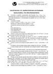 Lista de Exercícios 1 equilibrio acido base  e precipit