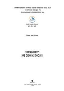 Apostila UNIJUÍ - Fundamentos das ciências sociais