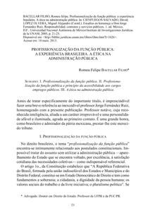Livro-Cap-Profissionalizacão-da-Função-Pública-a-Experiência-Brasileira-A-Ética-na-Administração-Pública-2005-Bacellar-Filho