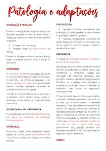 INTRODUÇÃO À PATOLOGIA + Adaptações
