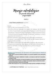 MENEJO ODONTOLÓGICO DO PACIENTE CLINICAMENTE COMPROMETIDO PARTE II
