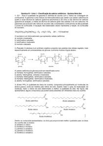 Química III - Lista 01