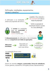 RDC 216 ESQUEMATIZADA - EDIFICAÇÃO, INSTALAÇÕES, EQUIPAMENTOS, MÓVEIS E UTENSÍLIOS