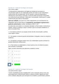 Apol 5 Gestão da Tencologia e Padronização da Qualidade nota 100