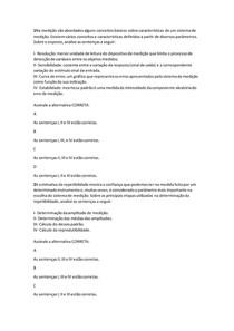 Análise dos Sistemas de Medição (Avaliação I - Individual) (CGQ05)