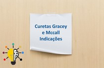 Indicações das Curetas Gracey e Curetas Mccall - Mapa Mental de Periodontia
