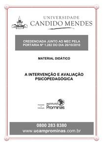 INTERVENÇÃO E AVALIAÇÃO PSICOPEDAGÓGICA