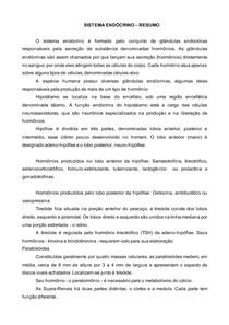 SISTEMA ENDOCRINO (RESUMO) ALUNO1