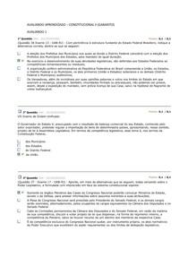 AVALIANDO APRENDIZADO – CONSTITUCIONAL II (GABARITO)