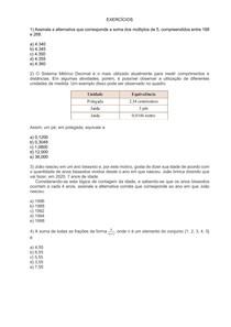 Aritmetica, MMC e MDC - exercícios