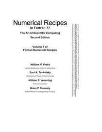 Numerical Recipes em Fortran 77 - Métodos Numéricos - 12