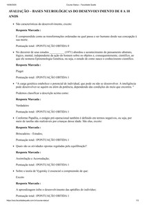 BASES NEUROLÓGICAS DO DESENVOLVIMENTO DE 0 A 10 ANOS