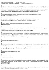 AV1 ALAVIANDO APRENDIZADO - SANEAMENTO AMBIENTAL