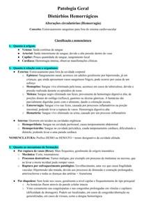 Distúrbios Hemorrágicos - PatG