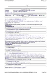 AV1 - Direito Comercial