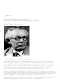 Jean Piaget_ Biografia - Portal Educação
