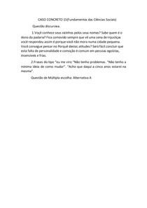 CASO CONCRETO 15 Fundamentos das Ciencias Sociais
