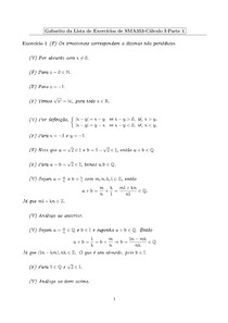 Resolução lista funções e limites - cálculo I