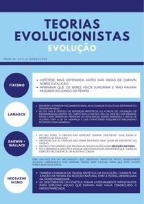 EVOLUÇÃO: TEORIAS EVOLUCIONISTAS