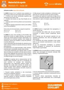 Módulo 6 - aula 08 - Poríferos