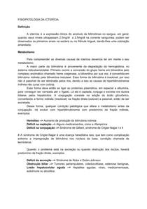FISIOPATOLOGIA DA ICTERÍCIA
