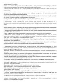 FARMACOLOGIA VETERINÁRIA INTRODUÇAO