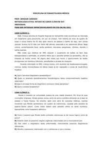 Casos clínicos Parasitologia Médica AV2