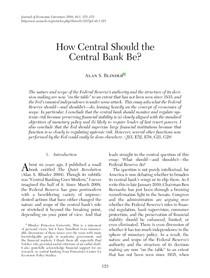 How should central banks be - Binder 2012